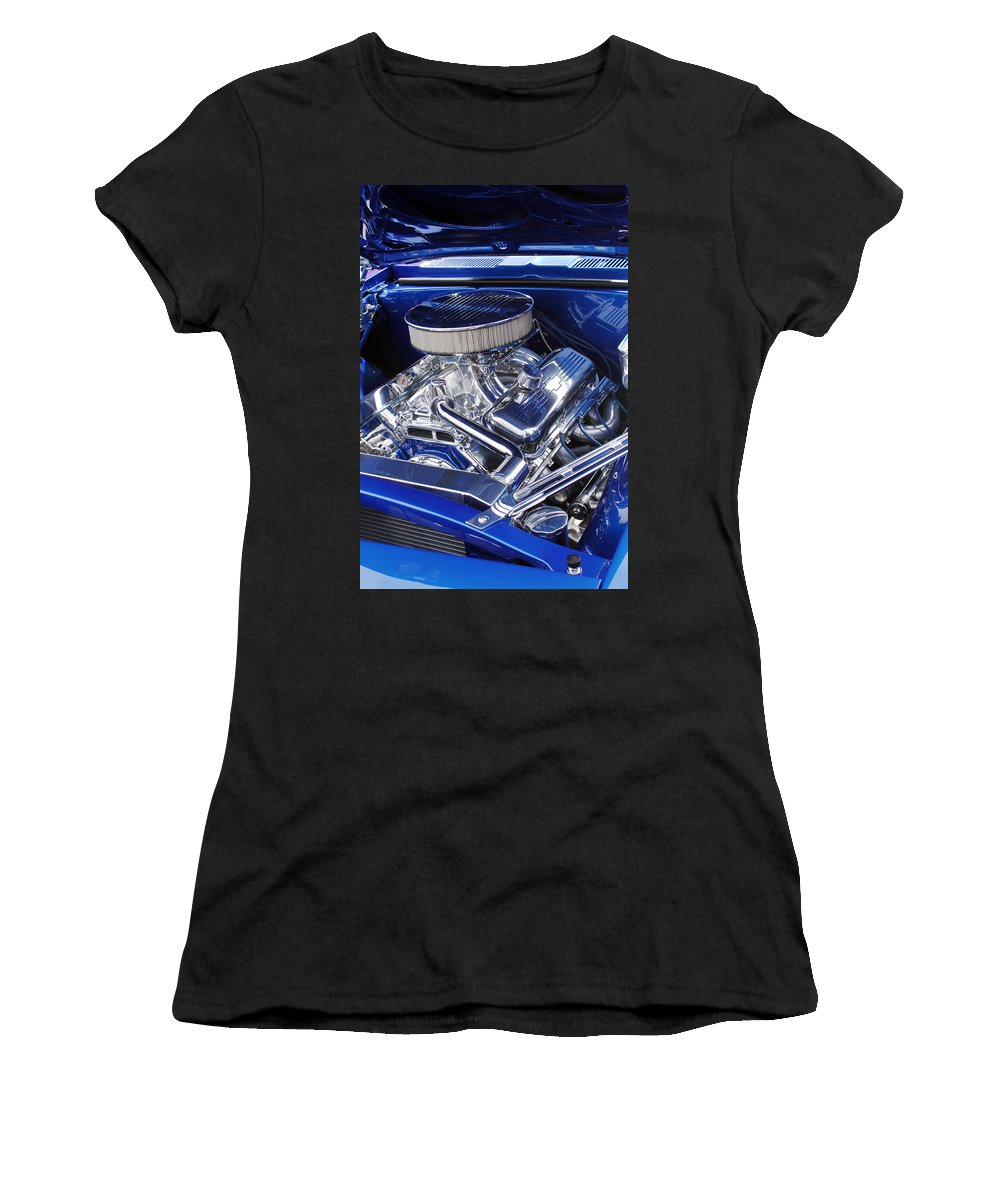Chevrolet Women's T-Shirt featuring the photograph Chevrolet Hotrod Engine by Jill Reger