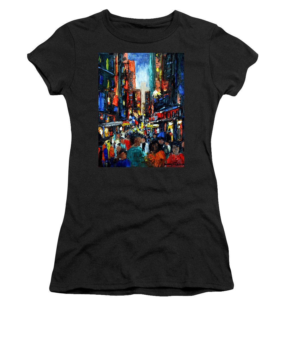 China Town Paintings Women's T-Shirts