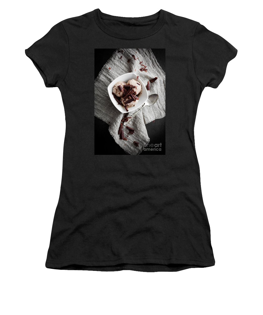 Sweet Women's T-Shirt (Athletic Fit) featuring the photograph Chocolate Ice Cream by Kati Finell
