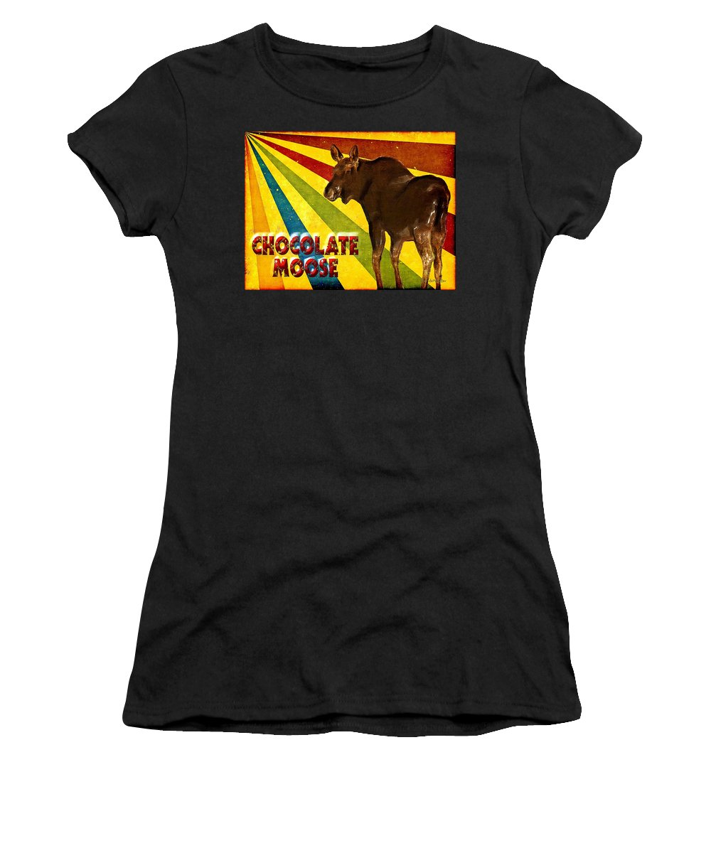 Moose Women's T-Shirt featuring the painting Chocolate Moose by RC DeWinter