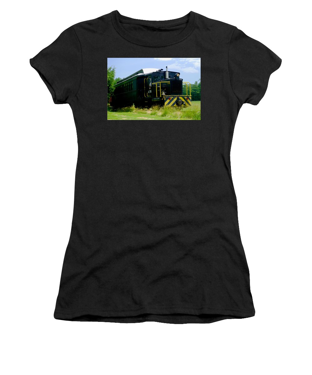 Train Women's T-Shirt (Athletic Fit) featuring the photograph Choo Choo by Pablo Rosales