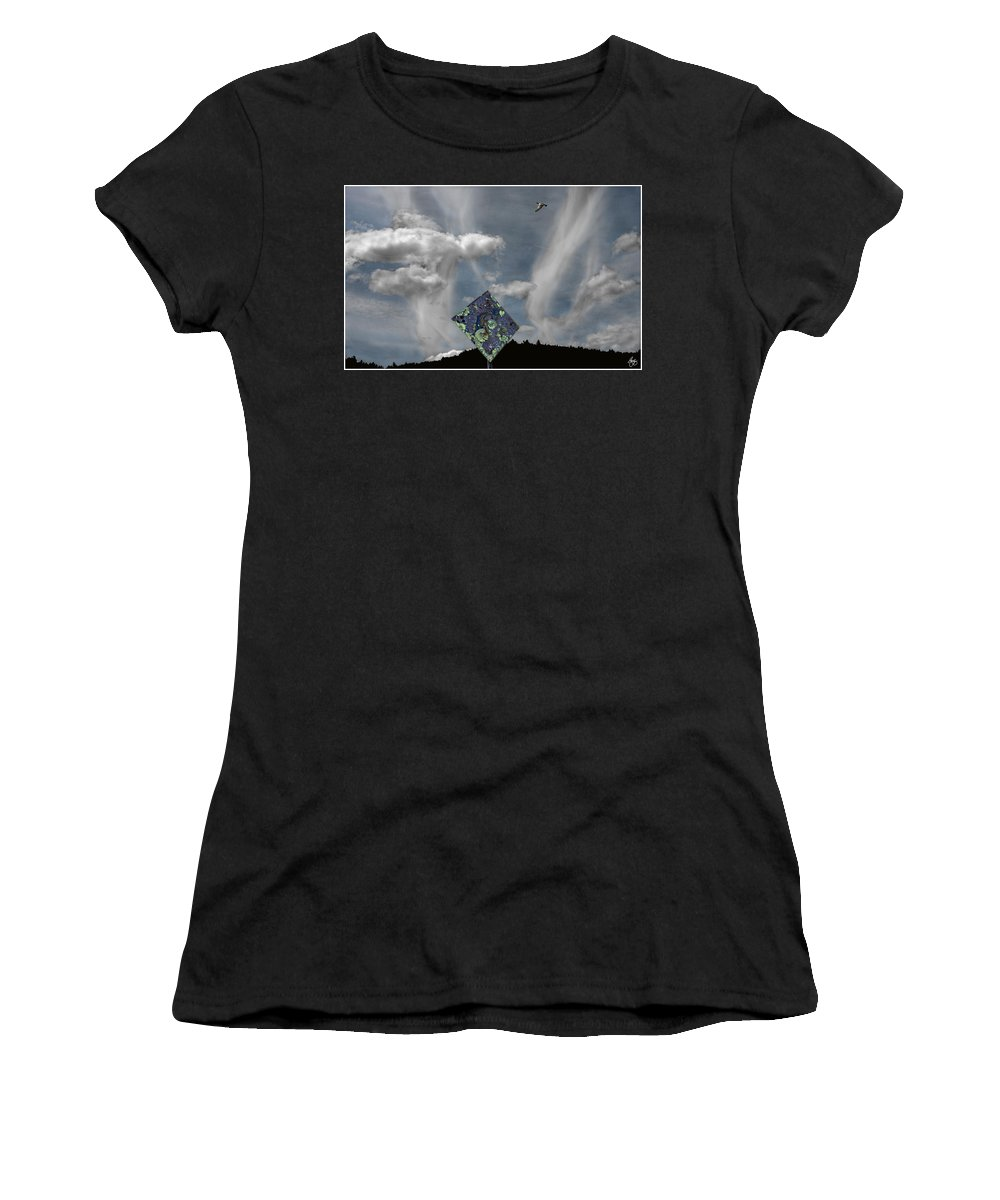 Abstract Women's T-Shirt featuring the photograph Choose Your Own Path 5 - Aim High by Wayne King
