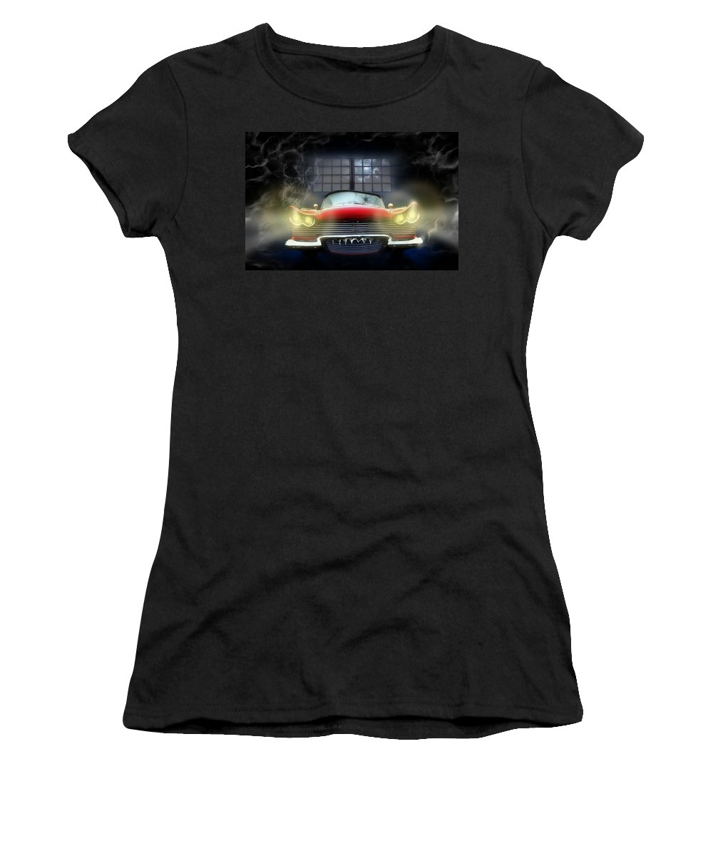 Christine Women's T-Shirt (Athletic Fit) featuring the digital art Christine by Alessandro Della Pietra