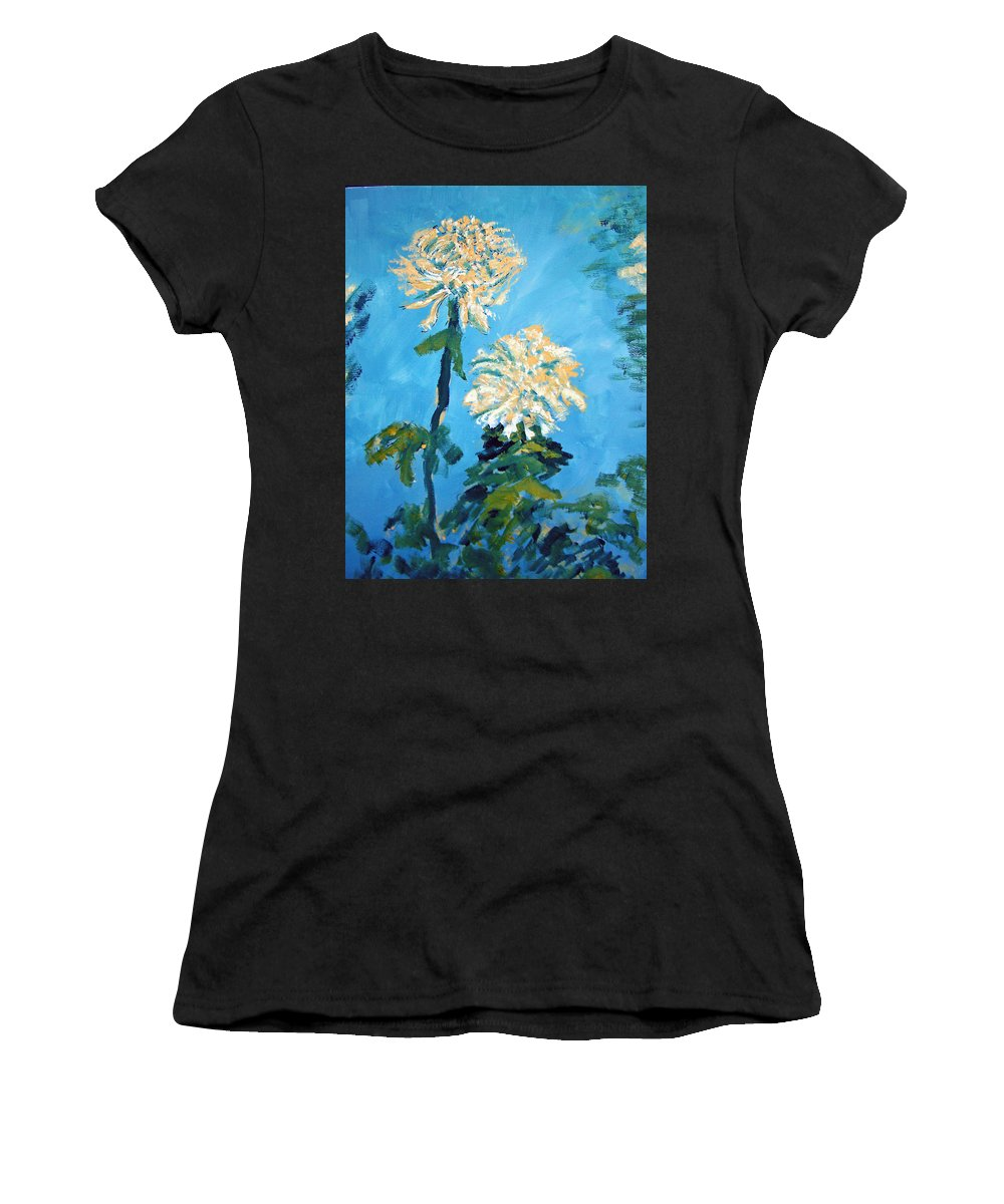 Flower Women's T-Shirt (Athletic Fit) featuring the painting Chrysanthemum Floral by Patricia Taylor
