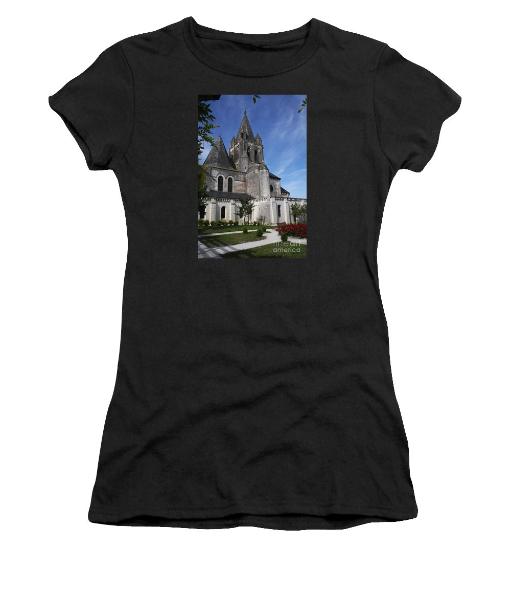 Church Women's T-Shirt featuring the photograph Church - Loches - France by Christiane Schulze Art And Photography