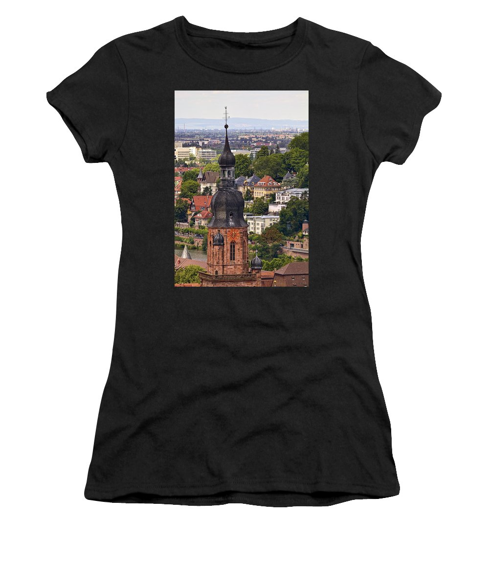 Architecture Women's T-Shirt (Athletic Fit) featuring the photograph Church Of The Holy Spirit Steeple by Marcia Colelli