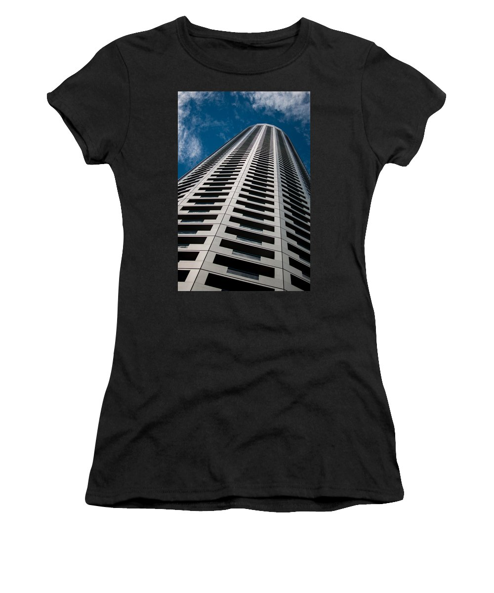 Singapore Women's T-Shirt (Athletic Fit) featuring the photograph City Apartments by Miguel Winterpacht