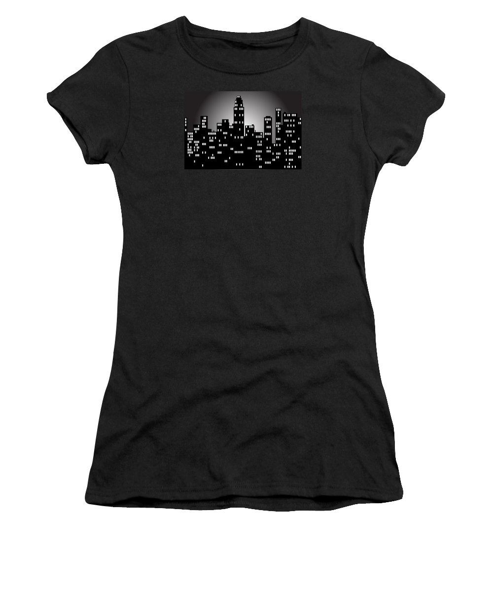 City Women's T-Shirt featuring the digital art City by FL collection