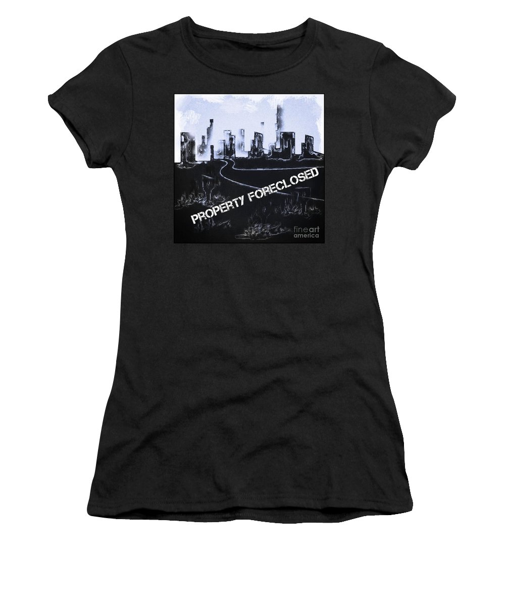 Surrealism Women's T-Shirt featuring the digital art City For Sale by John Malone