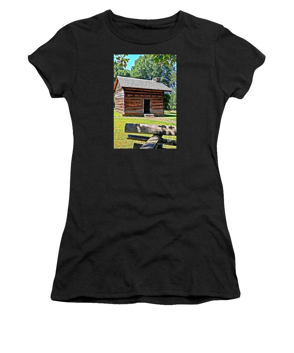 Travel Women's T-Shirt featuring the photograph Civil War Era Cabin by Elvis Vaughn