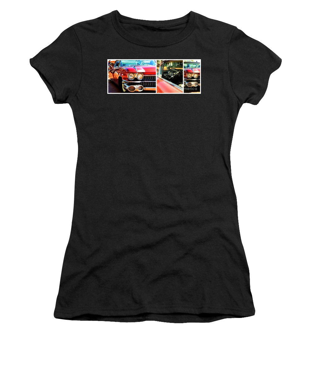 Cadillac Women's T-Shirt featuring the photograph Classic Caddy Inside And Out by Alanna DPhoto