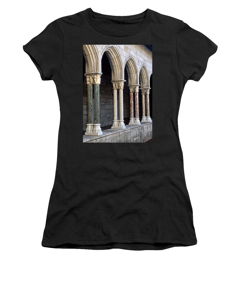 Cloisters Women's T-Shirt (Athletic Fit) featuring the photograph Cloisters by Dave Mills