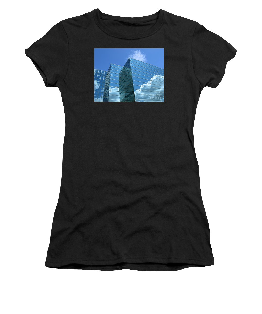 Building Women's T-Shirt (Athletic Fit) featuring the photograph Cloud Mirror by Ann Horn