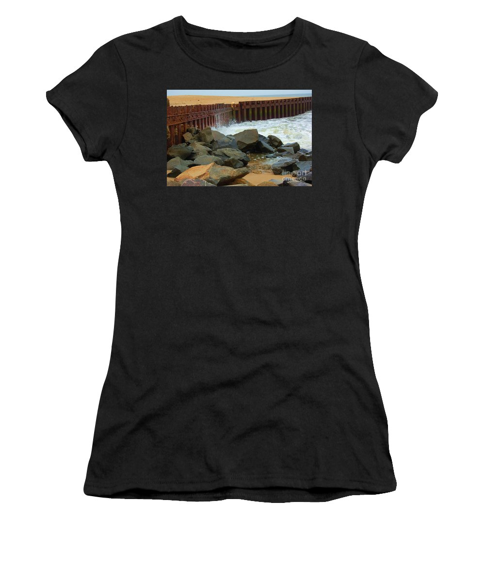 Water Women's T-Shirt featuring the photograph Coast Of Carolina by Debbi Granruth
