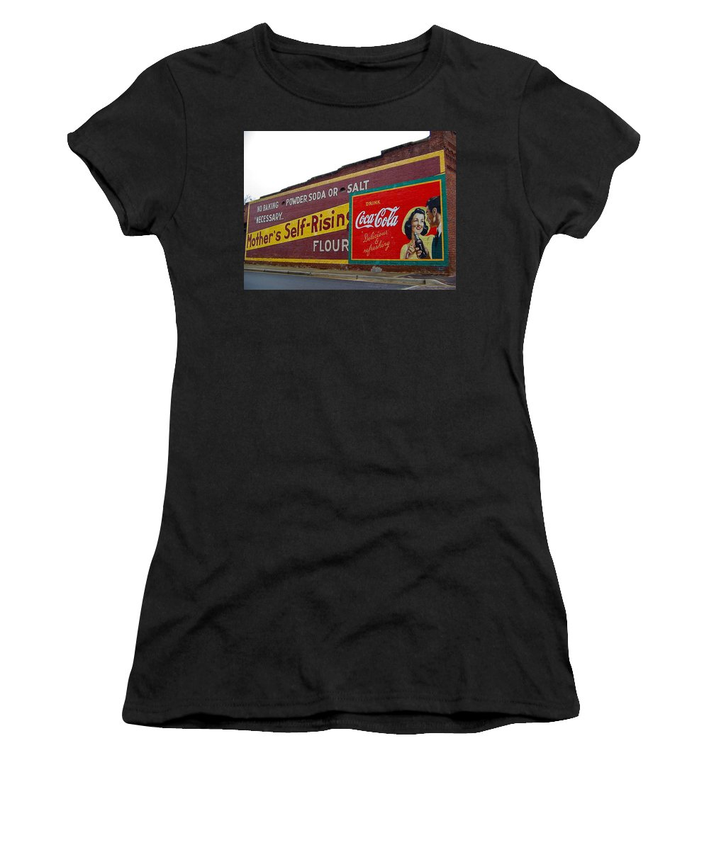 Coca Cola Women's T-Shirt featuring the photograph Coca Cola Advertisement by Denise Mazzocco