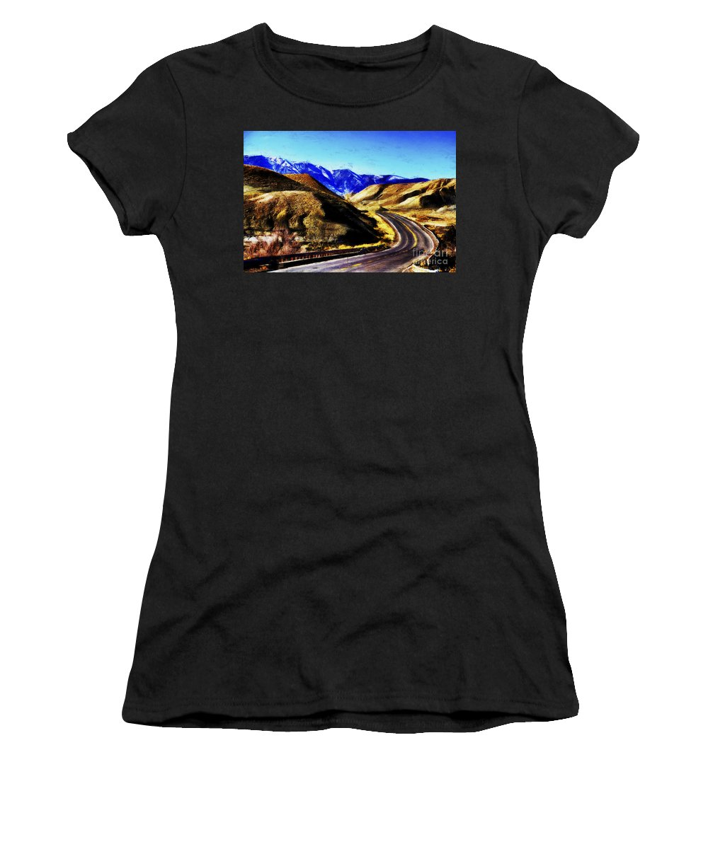 Flagstaff Women's T-Shirt (Athletic Fit) featuring the photograph Color My Road by Douglas Barnard