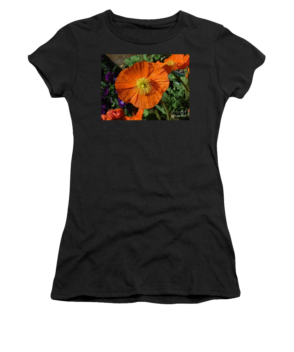 Poppy Women's T-Shirt (Athletic Fit) featuring the photograph Colorado Poppy by Rincon Road Photography By Ben Petersen