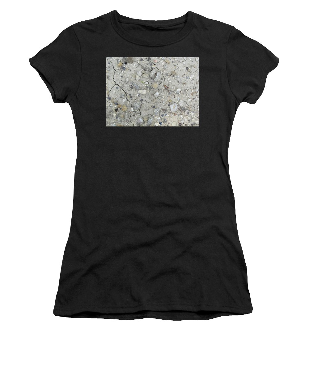 Rocks Women's T-Shirt featuring the photograph Ground Rocks by Donna Wilson
