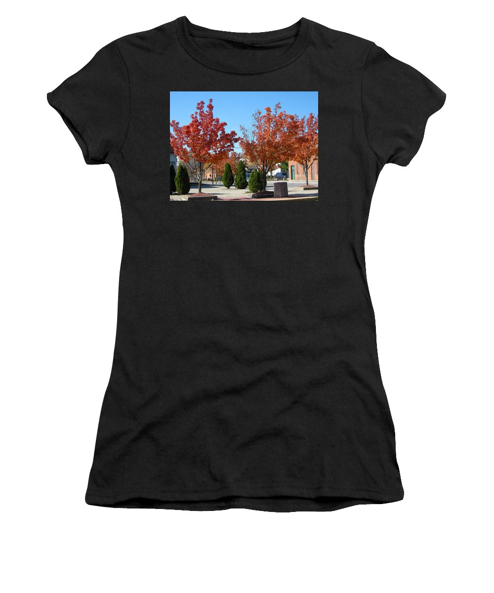 Tree Women's T-Shirt featuring the photograph Colorful Ohio Trees by Denise Mazzocco