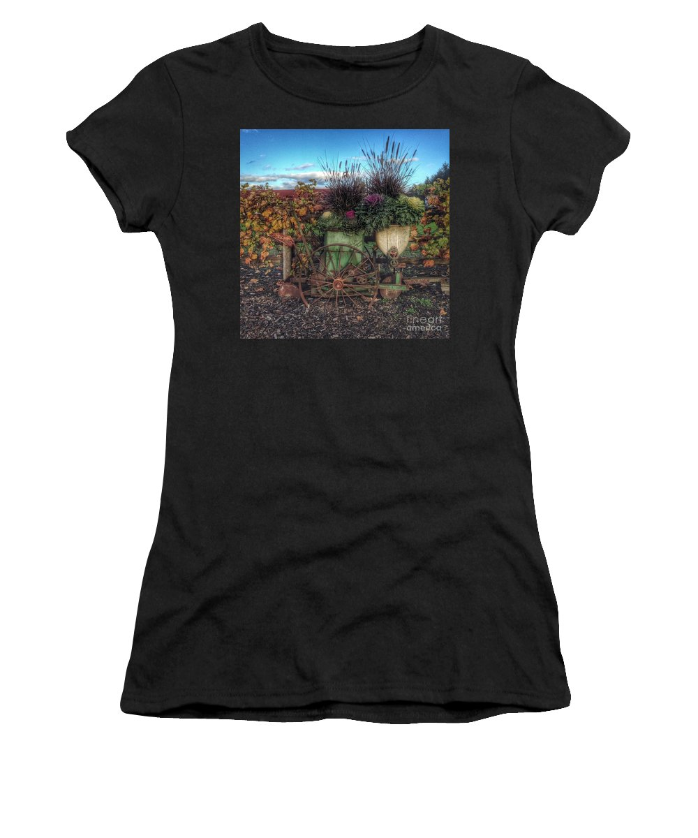 Colors Women's T-Shirt (Athletic Fit) featuring the photograph Colors Of Autumn by Charlene Mitchell