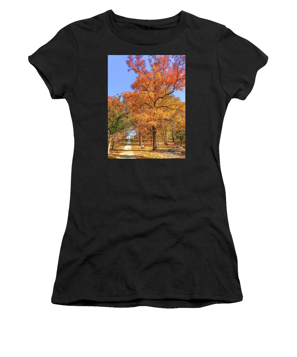 Fall Women's T-Shirt featuring the photograph Colors Of Fall by Charlie Cliques