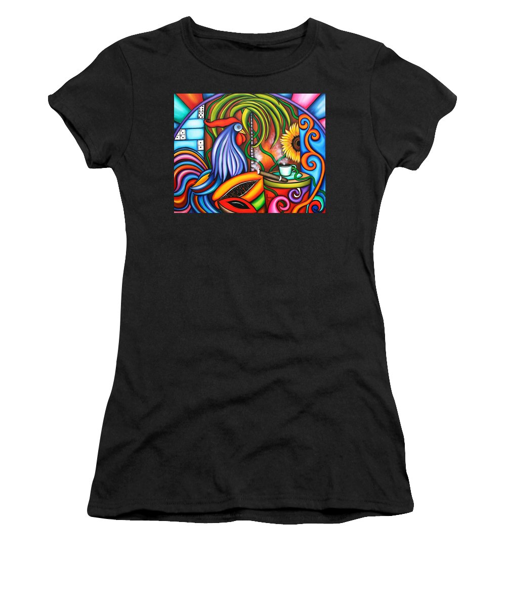 Cuba Women's T-Shirt (Athletic Fit) featuring the painting Colors Of My World by Annie Maxwell