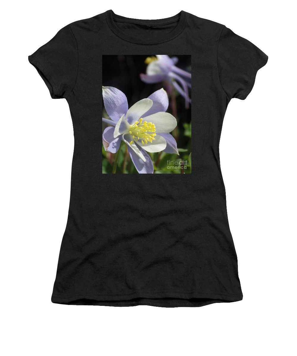 Columbines Women's T-Shirt (Athletic Fit) featuring the photograph Columbine by Tonya Hance