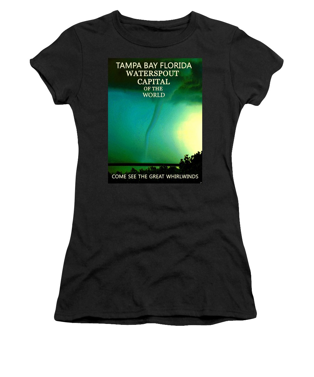 Tampa Bay Florida Women's T-Shirt (Athletic Fit) featuring the painting Come See The Great Whirlwinds by David Lee Thompson