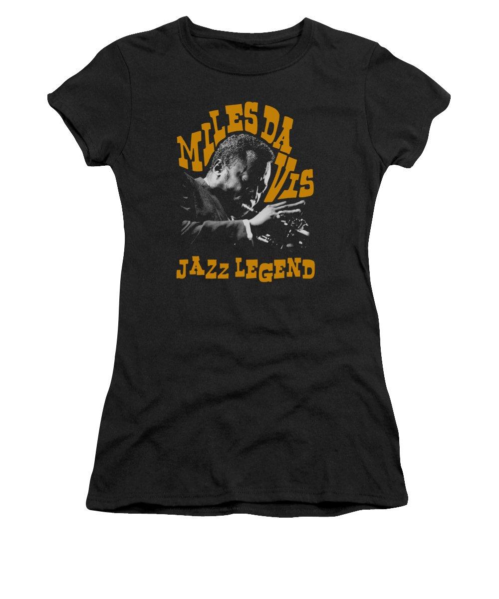 Miles Davis Women's T-Shirt featuring the digital art Concord Music - Jazz Legend by Brand A