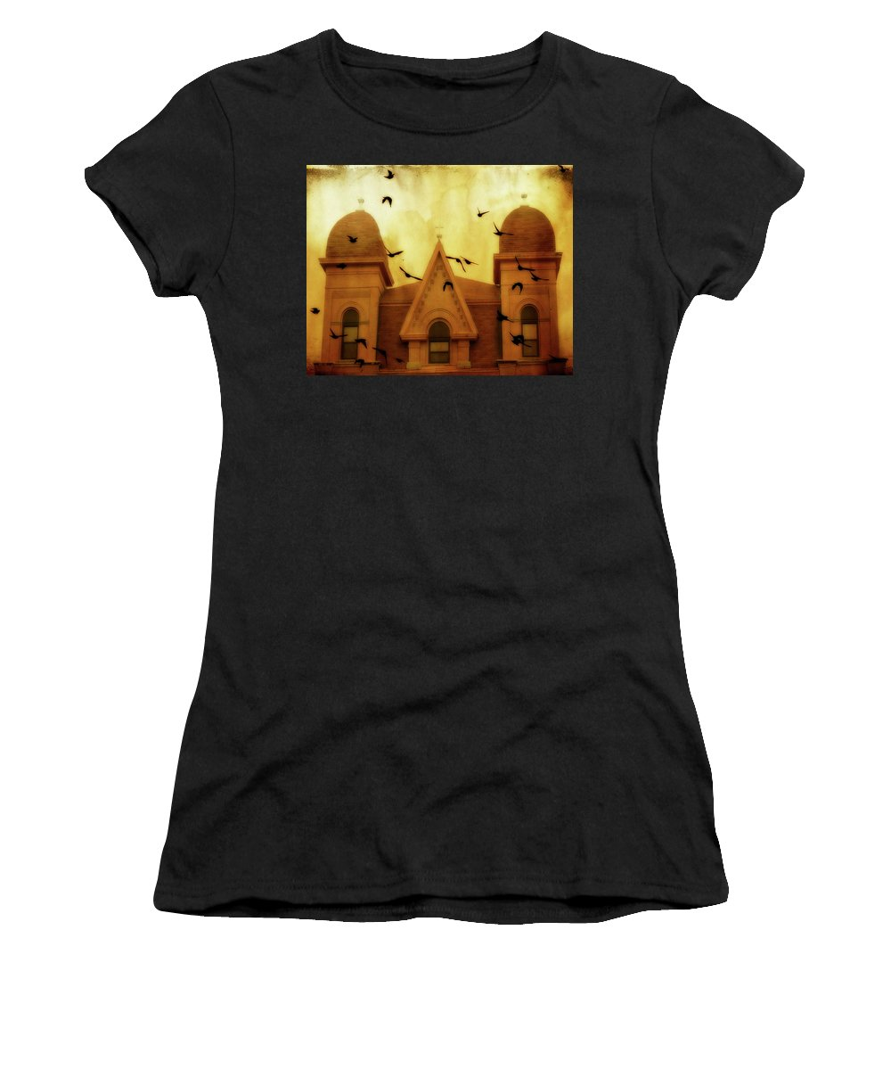 Church Women's T-Shirt (Athletic Fit) featuring the photograph Congregation by Gothicrow Images