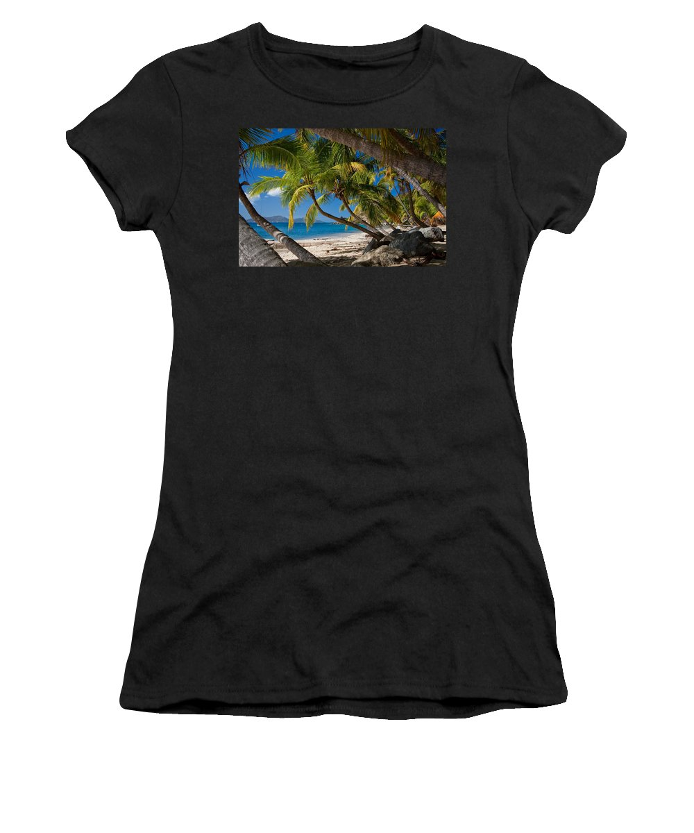 3scape Women's T-Shirt (Athletic Fit) featuring the photograph Cooper Island by Adam Romanowicz