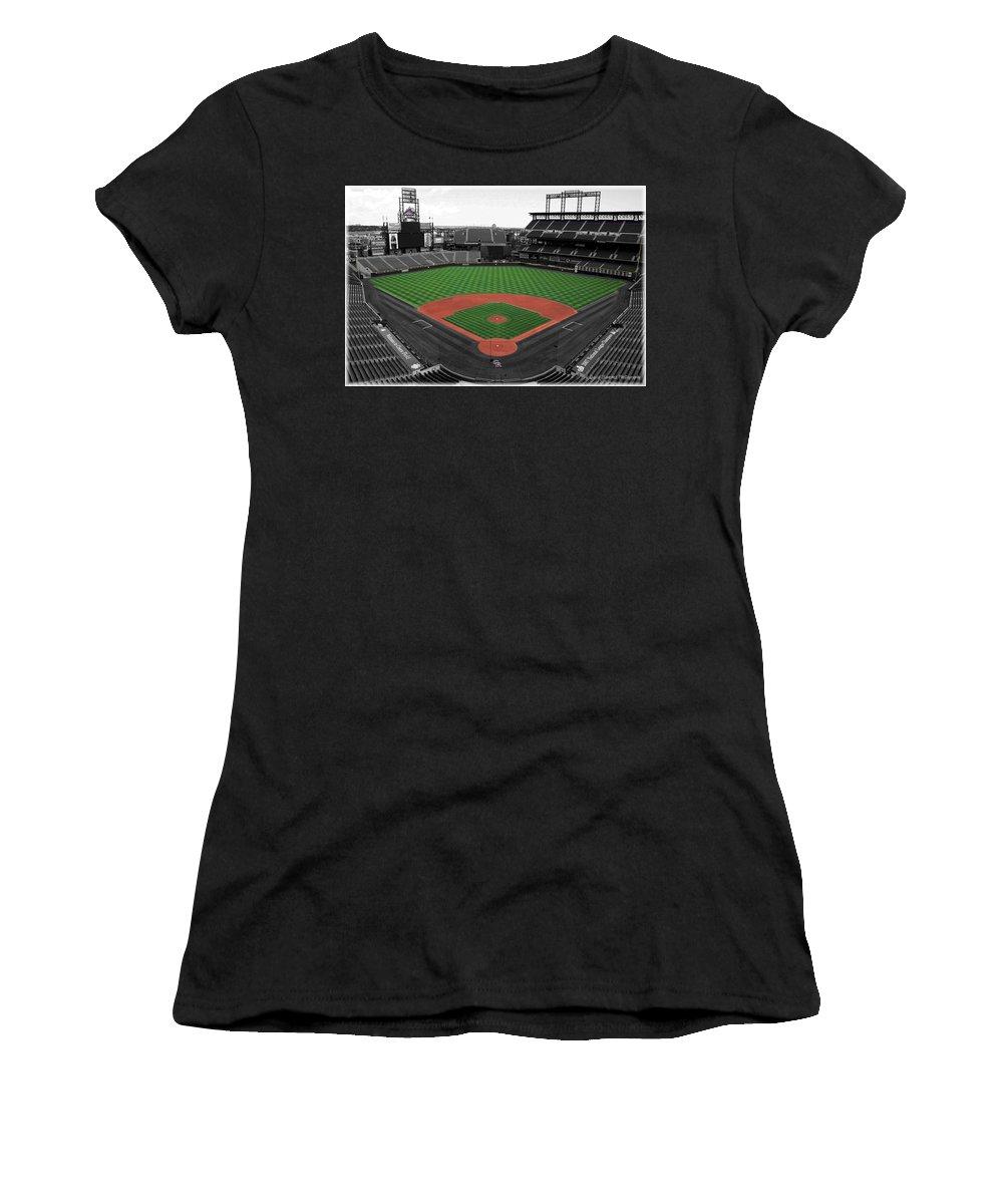 Baseball Women's T-Shirt featuring the photograph Coors Field 2 by David Sanchez