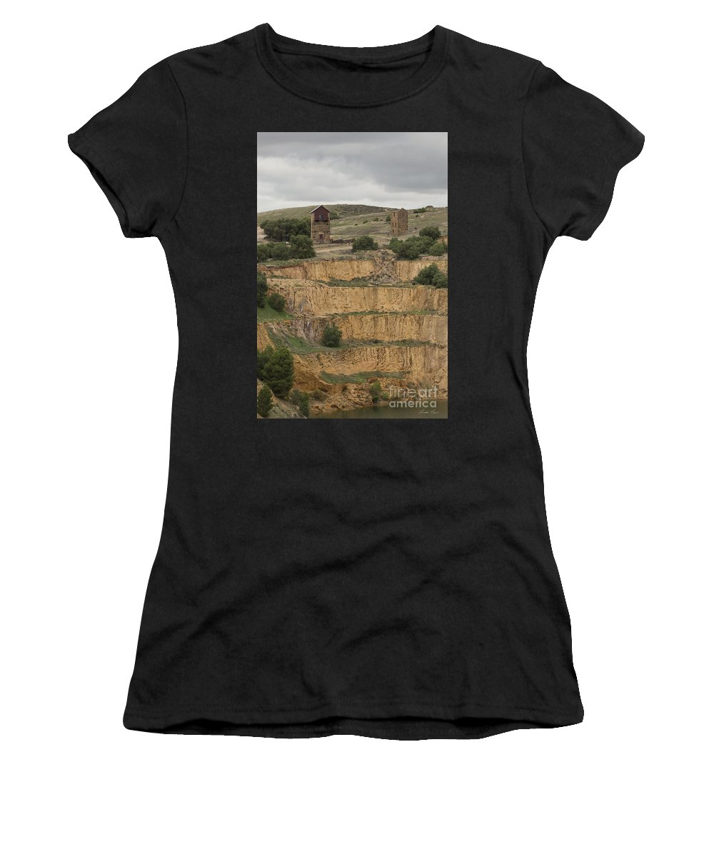 Burra Women's T-Shirt featuring the photograph Copper Mine by Linda Lees