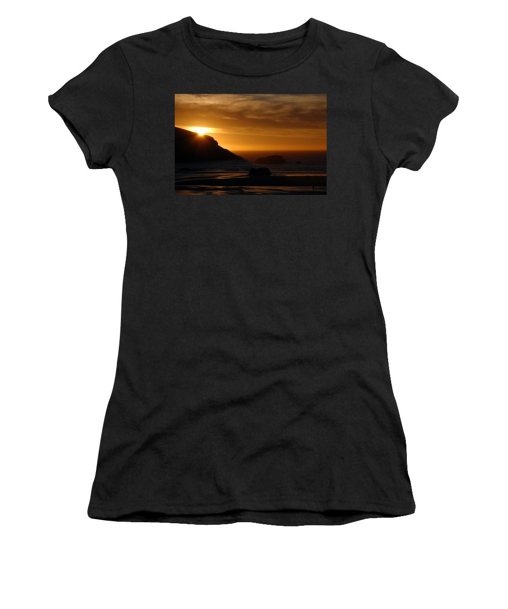 Sunset Women's T-Shirt featuring the photograph Copper Sunset by Tara Fisher