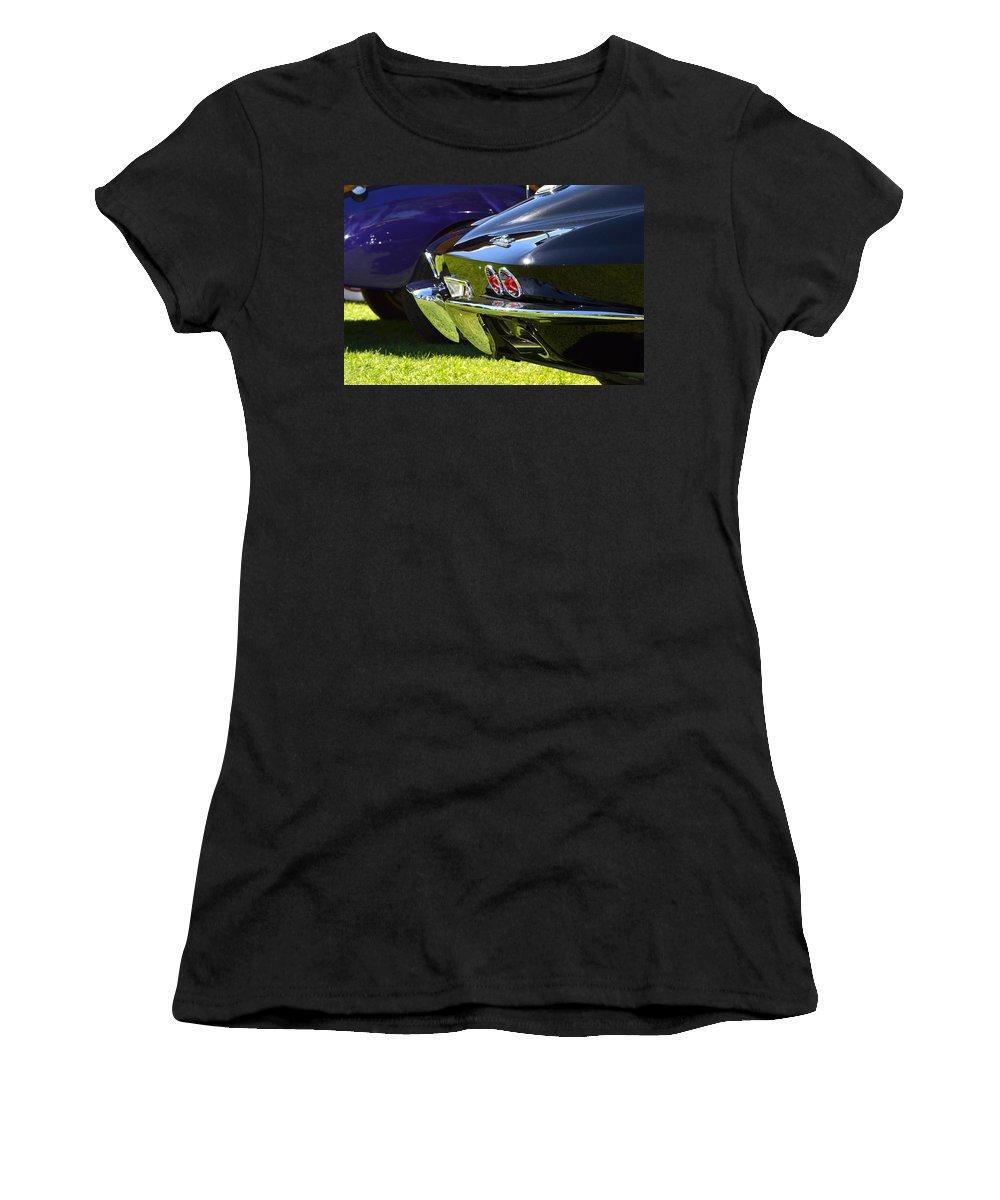 Black Women's T-Shirt featuring the photograph Corvette Stingray by Dean Ferreira
