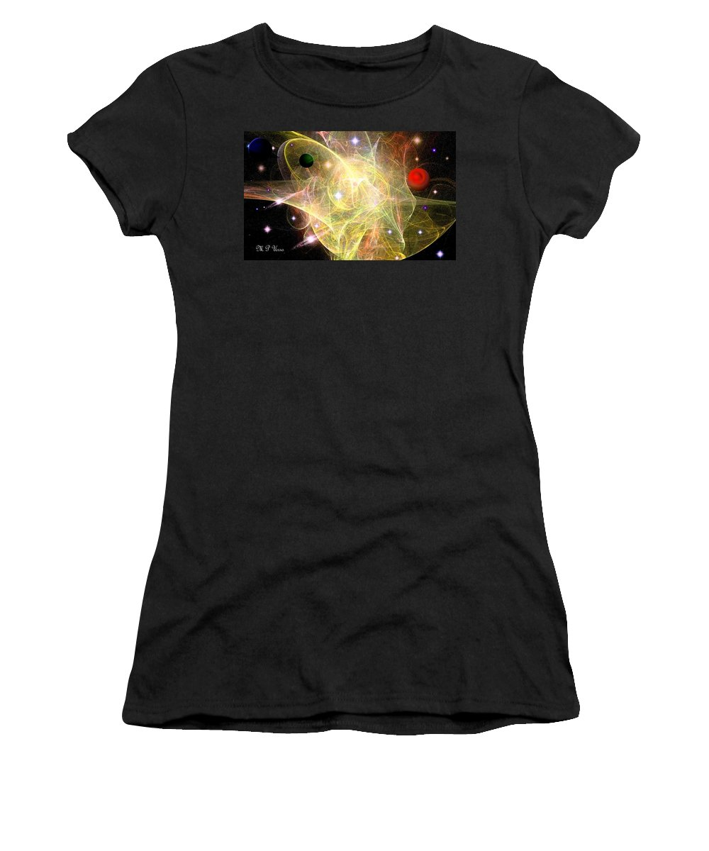 Cosmic Jubilation Women's T-Shirt (Athletic Fit) featuring the digital art Cosmic Jubilation by Maria Urso