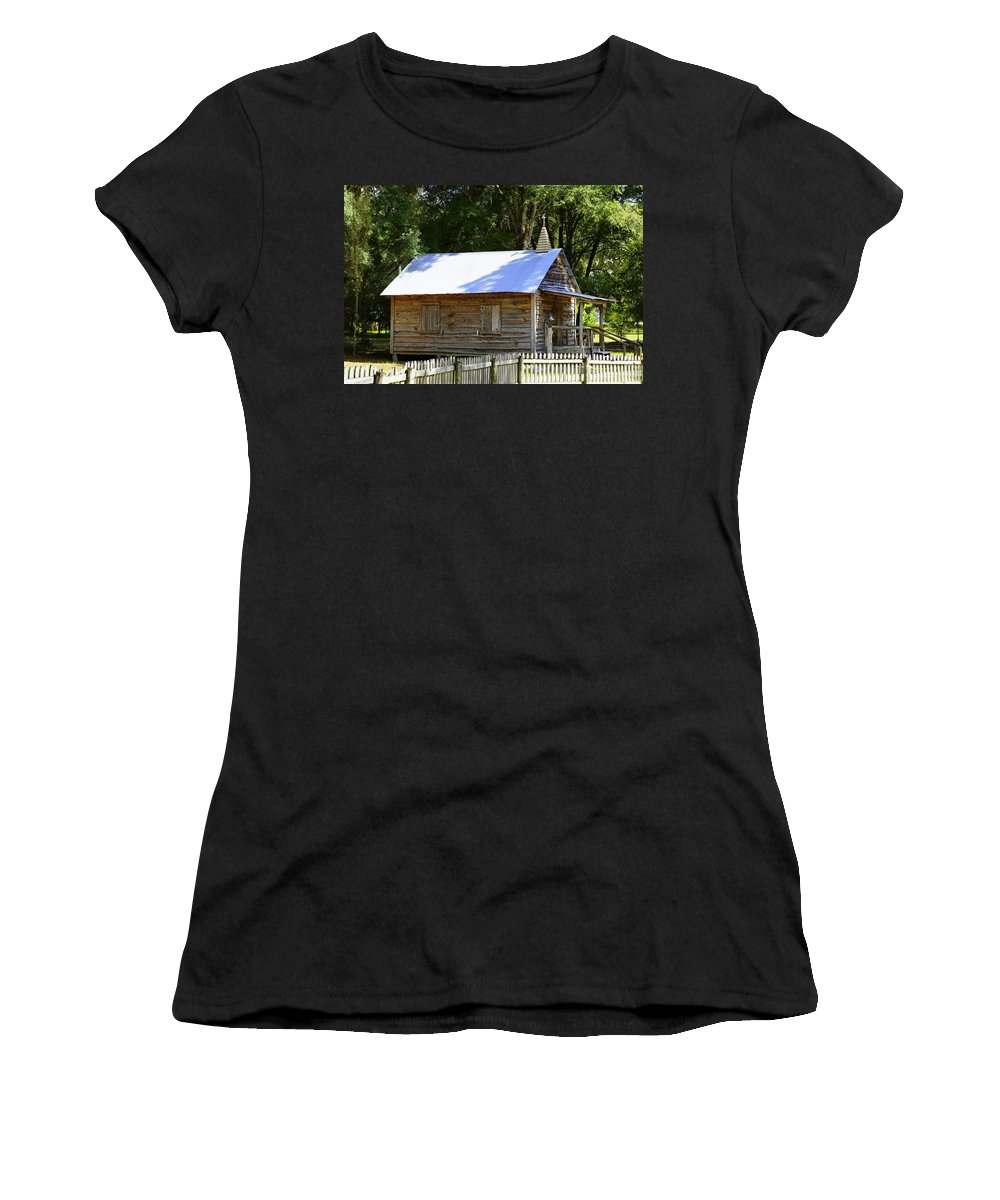 Church Women's T-Shirt (Athletic Fit) featuring the photograph Cracker Church by Laurie Perry