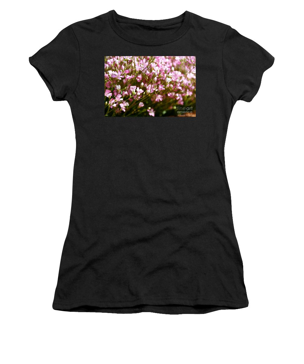 Flower Women's T-Shirt featuring the photograph Creeping Baby Breath by Susan Herber