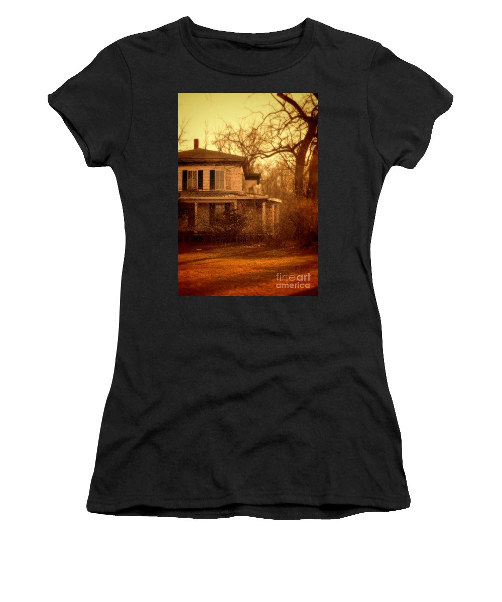 House Women's T-Shirt featuring the photograph Creepy Old House by Jill Battaglia