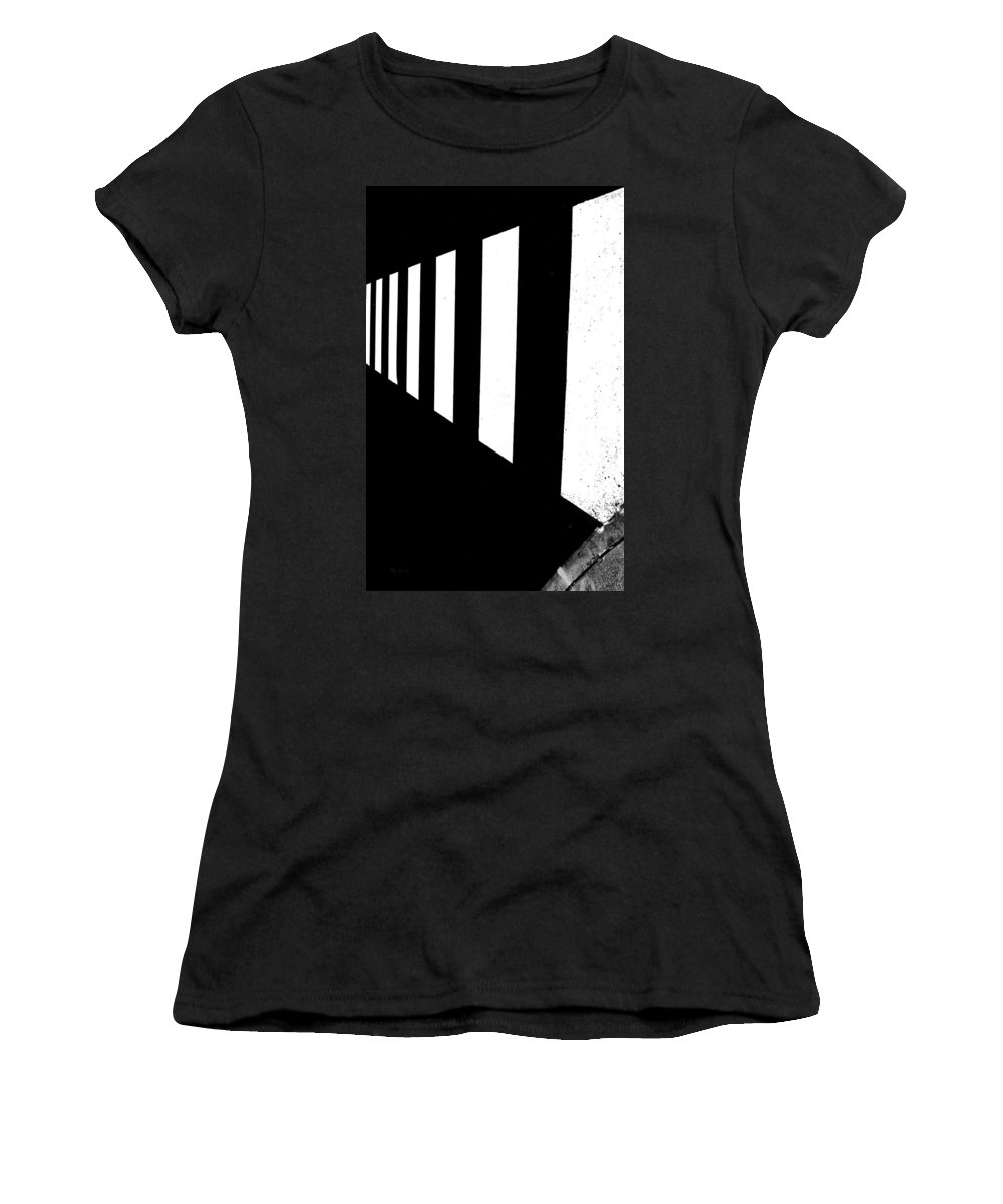Abstract Women's T-Shirt (Athletic Fit) featuring the photograph Crosswalk by Bob Orsillo