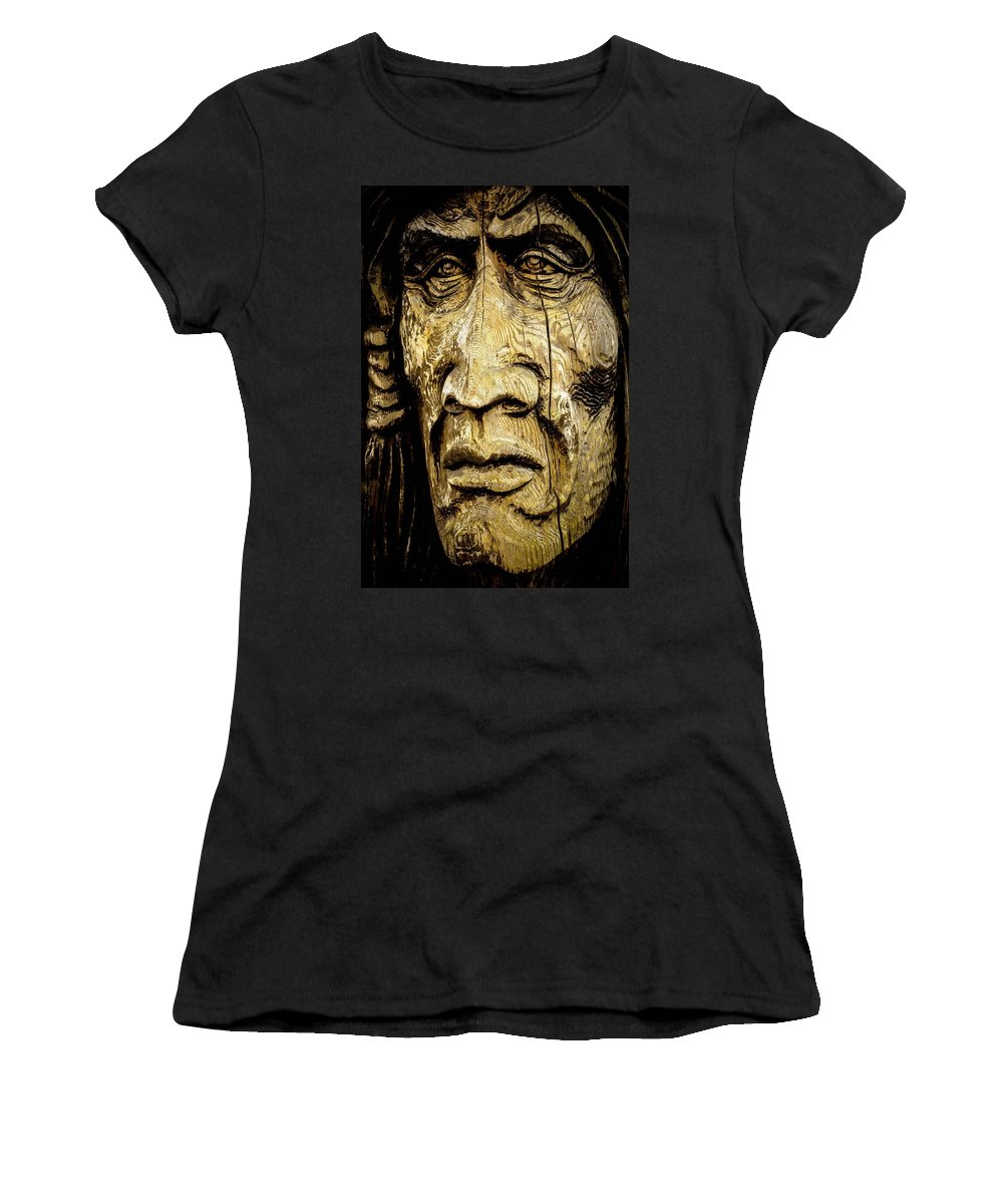 Totem Pole Women's T-Shirt featuring the photograph Crying Feathers by G A Fuller Photography