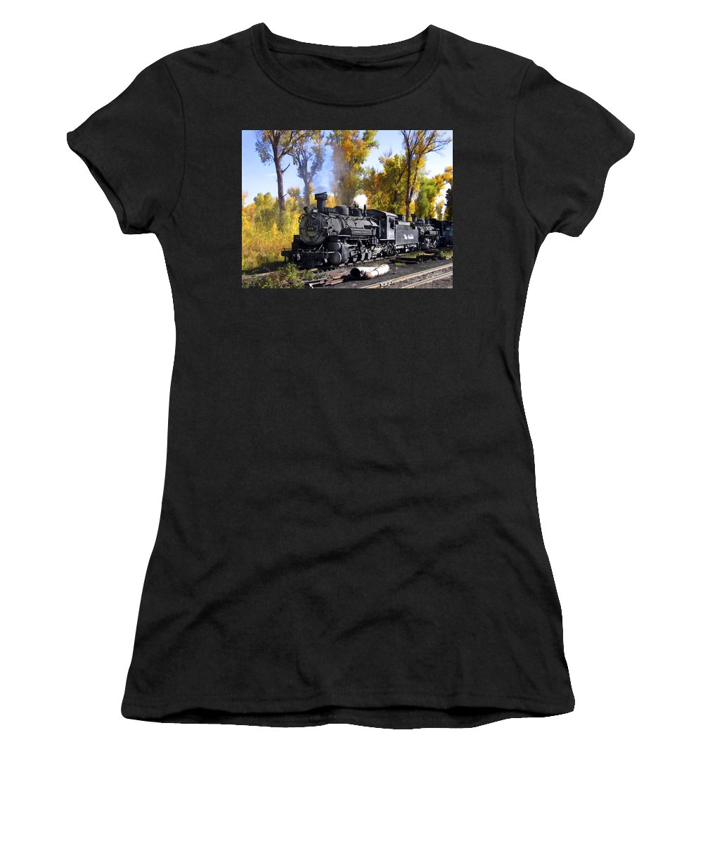 Train Women's T-Shirt featuring the photograph Cumbres And Toltec Railroad by Kurt Van Wagner