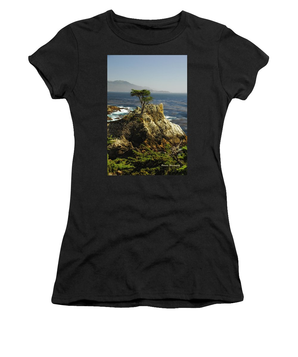 Cypress Tree Women's T-Shirt (Athletic Fit) featuring the photograph Cypress by Donna Blackhall
