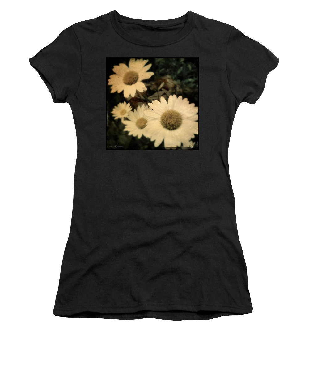 Daisy Women's T-Shirt (Athletic Fit) featuring the photograph Daisies by Tim Nyberg