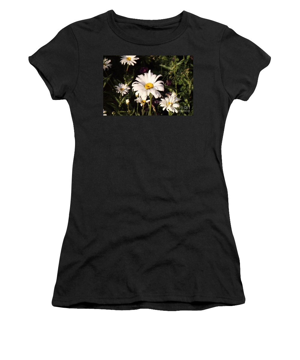 White Women's T-Shirt (Athletic Fit) featuring the photograph Daisy by Brandi Maher