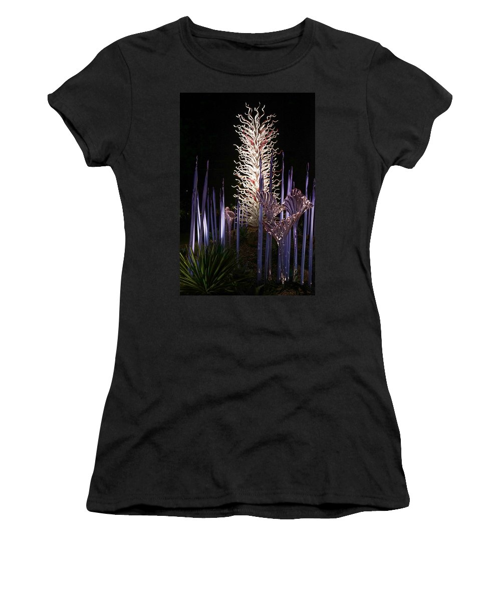 Exhibit Women's T-Shirt (Athletic Fit) featuring the photograph Dale Chihuly Glass Art by Diana Weir