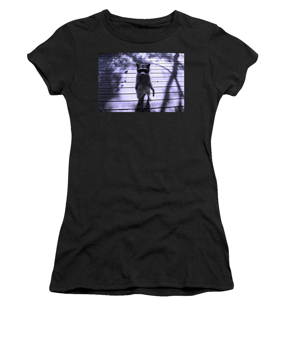 Animals Women's T-Shirt (Athletic Fit) featuring the photograph Dancing In The Moonlight by Kym Backland