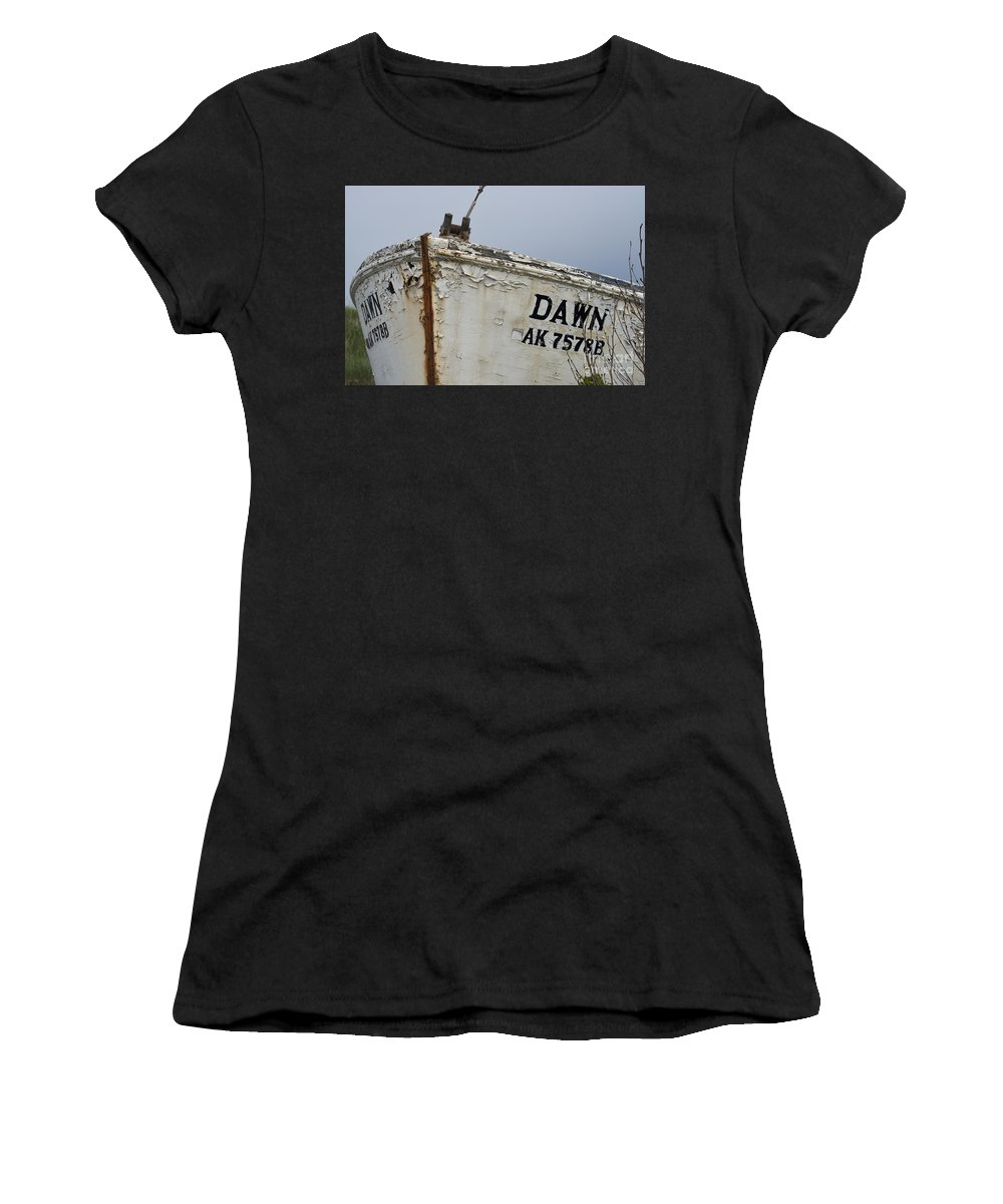 Boat Women's T-Shirt featuring the photograph Dawn by David Arment