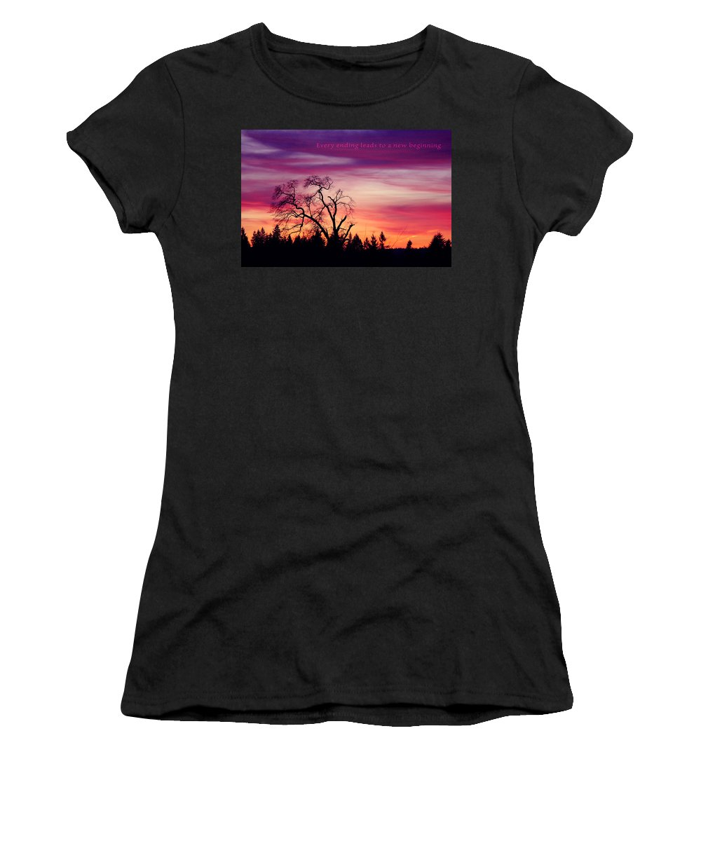 Landscape Women's T-Shirt featuring the photograph Day's End by Rory Sagner