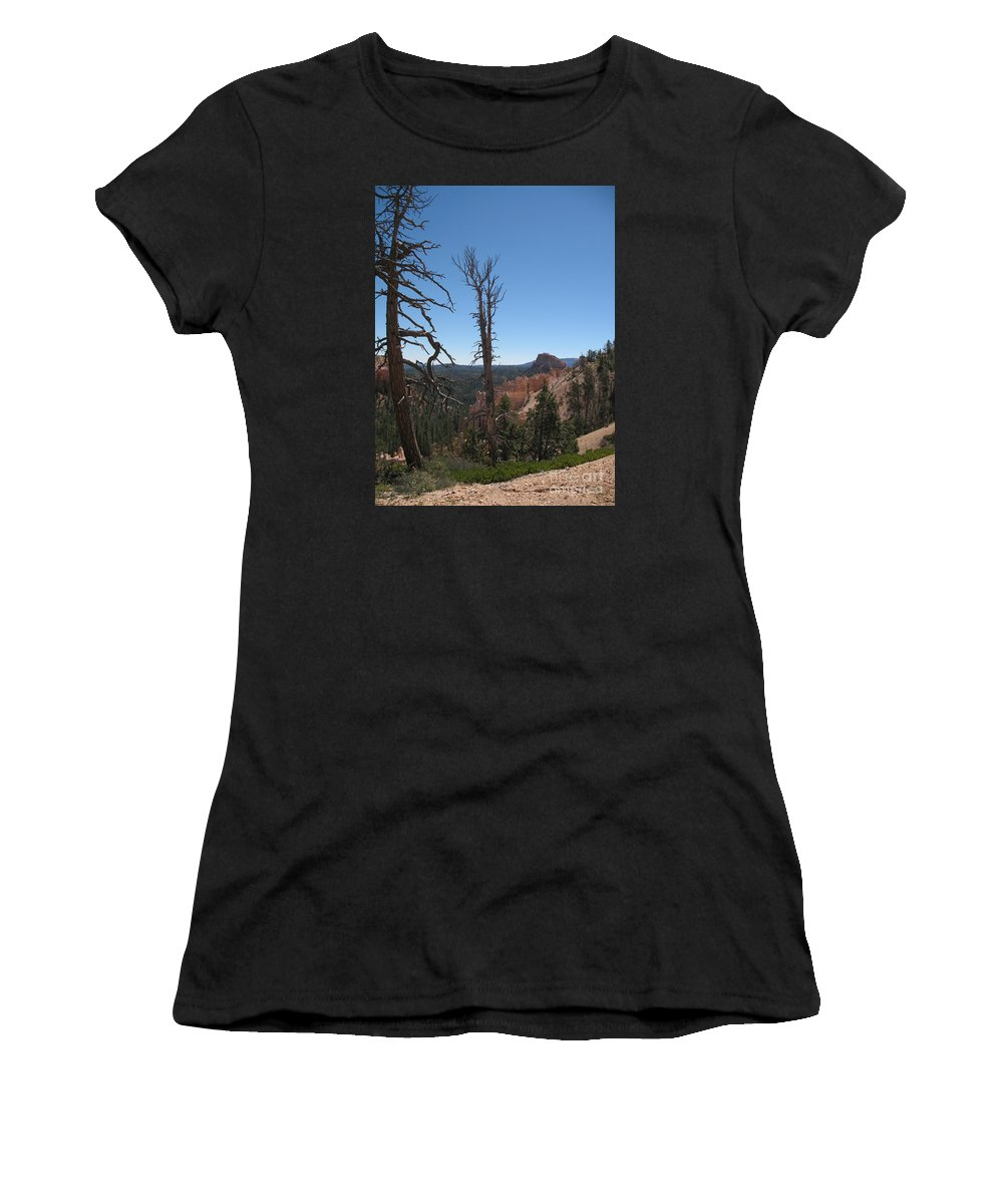 Bryce Canyon Women's T-Shirt (Athletic Fit) featuring the photograph Dead Trees At Bryce Canyon by Christiane Schulze Art And Photography